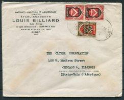 1948 Algeria Louis Billiard, Agricultural Machines Cover - Chicago USA - Algeria (1924-1962)