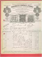 PHARMACIE CENTRALE DE FRANCE 1899 PARIS 7 RUE DE JOUY USINE A SAINT DENIS AVENUE DE PARIS - Francia
