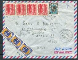 1956 Algeria Setif Constantine Airmail Cover - Washington USA - Algeria (1924-1962)