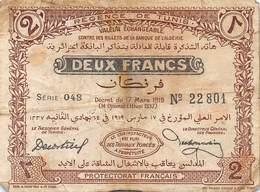 .D.18-2106  : BILLET REGENCE DE TUNIS. 2 FRANCS - Tunisia