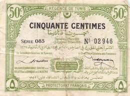 .D.18-2107  : BILLET REGENCE DE TUNIS. 50 CENTIMES - Tunisia