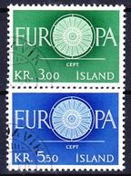 ISLANDE 1960 YT N° 301 Et 302 Obl. - 1944-... Republik
