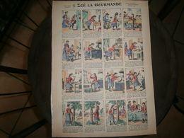 ANCIENNE PLANCHE  ZOE LA GOURMANDE  N 27      IMAGERIES REUNIES DE JARVILLE NANCY VERS 1890/1900 - Collections