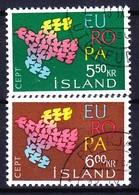 ISLANDE 1961 YT N° 311 Et 312 Obl. - 1944-... Republik