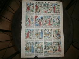 ANCIENNE PLANCHE  LA BICHE AU BOIS N 523      IMAGERIES REUNIES DE JARVILLE NANCY VERS 1890/1900 - Collections