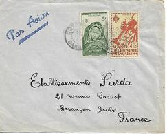 AFRIQUE OCCIDENTALE FRANCAIS A.O.F. DAHOMEY Cover Posted 2 Stamps COVER USED - A.O.F. (1934-1959)