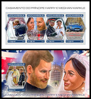 MOZAMBIQUE 2018 - Prince Harry Wedding, M/S + S/S. Official Issue - Mozambique