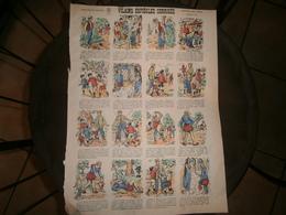 ANCIENNE PLANCHE VILAINS ESPIEGLES CORRIGES  N 517      IMAGERIES REUNIES DE JARVILLE NANCY VERS 1890/1900 - Collections