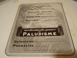 ANCIENNE PUBLICITE MEDICAMENT PROCTETION DE L EMPIRE FRANCAIS PALUDISME 1940 - Other