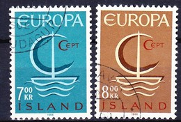 ISLANDE 1966 YT N° 359 Et 360 Obl. - 1944-... Republik