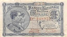 .D.18-2112 : BILLET BANQUE NATIONALE DE BELGIQUE. 1 FRANC - Otros