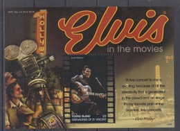 GRENADINES OF ST VINCENT YOUNG ISLAND ROCK-N-ROLL ELVIS PRESLEY S/SHEET - Elvis Presley