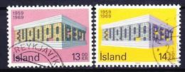 ISLANDE 1969 YT N° 383 Et 384 Obl. - Gebraucht