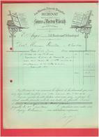 FACTURE 1899 EAU MINERALE RUBINAT PROVINCE DE LERIDAT ESPAGNE SOURCE DU DOCTEUR LLORACH ARGER 133 BOULEVARD SEBASTOPOL - Francia