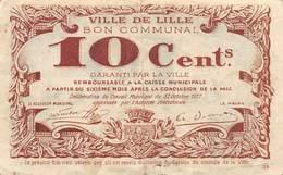 .D.18-2114 : BON COMMUNAL DE LA VILLE DE LILLE DANS LE NORD. 100 CENTIMES - Bons & Nécessité