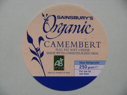 Etiquette Camembert - Organic BIO - Cheese Sainsbury's Export - Royaume-Uni  A Voir ! - Cheese