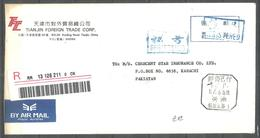 USED REGISTERED  AIR MAIL COVER CHINA TO PAKISTAN METER MARK - China