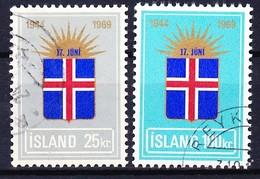 ISLANDE 1969 YT N° 385 Et 386 Obl. - 1944-... Republik
