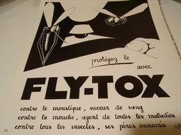 ANCIENNE PUBLICITE PROTEGEZ LE AVEC FLY-TOX 1939 - Other