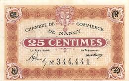 .D.18-2117 : CHAMBRE DE COMMERCE DE NANCY. MEURTHE ET MOSELLE. 25 CENTIMES. - Chambre De Commerce