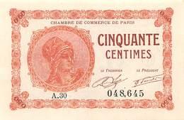 .D.18-2118 : CHAMBRE DE COMMERCE DE PARIS. 50 CENTIMES. - Chambre De Commerce