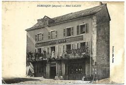 A2 AVEYRON 12 DURENQUE Hotel Galzin 1914 - Andere Gemeenten