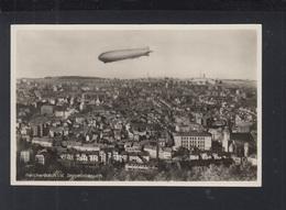 AK Zeppelin Besuch Reichenberg I. V. - Reichenbach I. Vogtl.