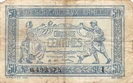 .D.18-2120 : TRESORERIE AUX ARMEES.. 50 CENTIMES. - France