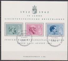 Lichtenstein 1962 MiNr.415 - 417 Block 6 O Gest. Ausstellung 50 Jahre Lichtensteinische ( E 140 ) Günstige Versandkosten - Blocks & Sheetlets & Panes