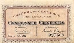 .D.18-2122: CHAMBRE DU COMMERCE DE LONS-LE-SAUNIER. JURA. 50 CENTIMES. - Chamber Of Commerce