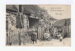 Scène Du Centre. L'arche De Noë. Paysans, Chêvre, Cochon. (3107) - Fermes