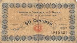 .D.18-2126: CHAMBRE DU COMMERCE DE SAINT-DIZIER HAUTE-MARNE. 50 CENTIMES. - Chambre De Commerce