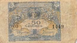 .D.18-2127 : CHAMBRE DU COMMERCE DE NIMES. GARD. 50 CENTIMES. - Chambre De Commerce