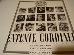 ANCIENNE PUBLICITE THEATRE MARIGNAN ENTENTE CORDIALE 1939 - Unclassified