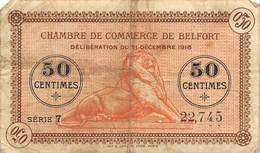 .D.18-2128 : CHAMBRE DU COMMERCE 50 CENTIMES.  BELFORT. - Chambre De Commerce
