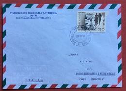 ANTARTIDE   BASE ITALIANA BAIA DI TERRANOVA  BUSTA ( N. 351 Di 1000) DA TERRA NOVA 7/1/1990  Arrivo 5/5/90 - Francobolli