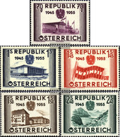 Austria 1012-1016 (complete.issue.) With Hinge 1955 Independence - 1945-60 Unused Stamps
