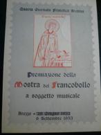 Arezzo 1953 Mostra Rinviata A Soggetto Musicale - 6. 1946-.. Repubblica