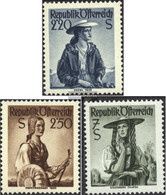 Austria 978-980 (complete.issue.) With Hinge 1952 Clear Brands - 1945-60 Unused Stamps