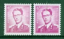 BELGIE Boudewijn Bril * Nr 1069   2 Kleuren * Postfris Xx * FLUOR PAPIER - 1953-1972 Lunettes