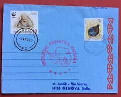 ANTARTIDE  SPEDIZIONE ANTARTICA ITALIANA AEREOGRAMMA DA ROSS 7/4/92 A GENOVA  IL 17/4/92 - Francobolli