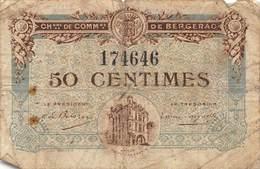 .D.18-2134 : CHAMBRE DU COMMERCE 50 CENTIMES.  BERGERAC.DORDOGNE. - Chambre De Commerce