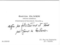 Carte De Visite Gaston Olivier Directeur Commercial Pharmacotechnie Tours - Pharmacie 37 - Cartes De Visite