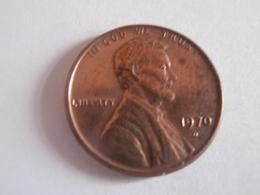 One Cent ETATS UNIS 1970 D - 1959-…: Lincoln, Memorial Reverse