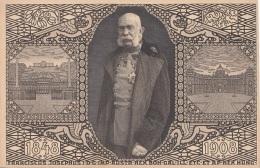 KAISER FRANZ JOSEF, JUBILÄUMSKARTE 1908, Roter Sonderstempel, Sehr Gute Erhaltung - Königshäuser