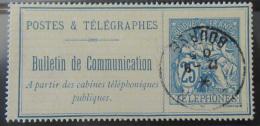 France - Timbre Téléphone 25c Type Chaplain YT N°16 Oblitéré En 1905 - Télégraphes Et Téléphones