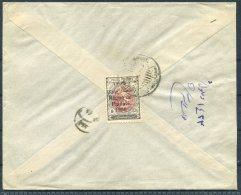 1926 Iran Persia Regne De Pahlavi Overprint Cover Isfahan Sandug - Iran