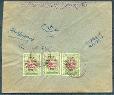 1926 Iran Persia Regne De Pahlavi Overprint Cover Isfahan - Iran