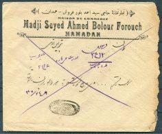 1926 Iran Persia Regne De Pahlavi Overprint Cover. Teheran Hamadan Sandug - Iran