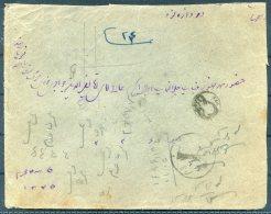 1926 Iran Persia Regne De Pahlavi Overprint Cover. Teheran Taxe Sandug - Iran